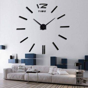 3D Oversized Decorative Wall Clock 1