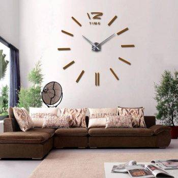 3D Oversized Decorative Wall Clock 3