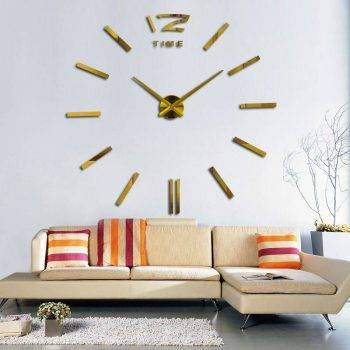 3D Oversized Decorative Wall Clock 2