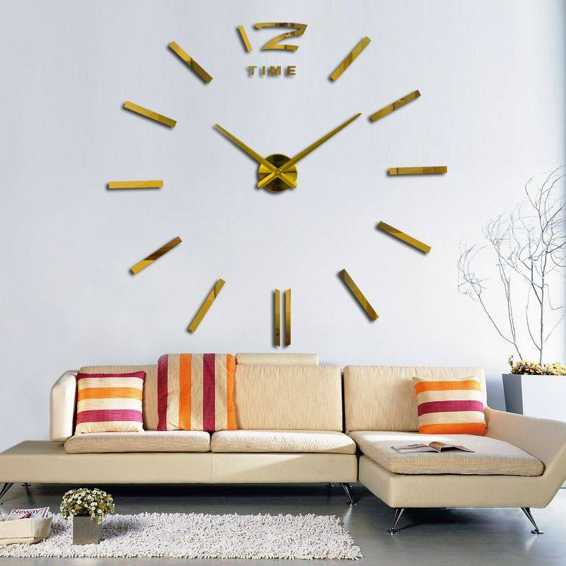 3D Oversized Decorative Wall Clock