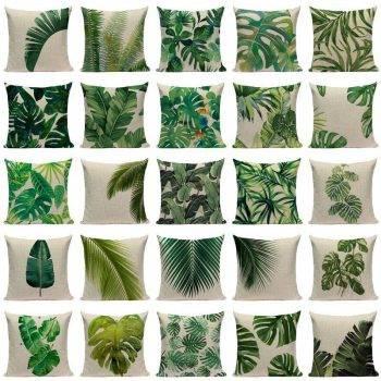 Outdoor Pillows Palm Leaf Cushion 1