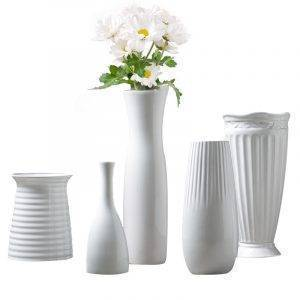 Decorative Vases Classic White Ceramic Vase