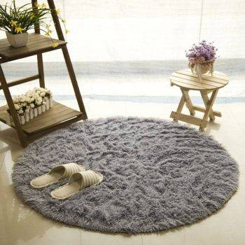 Living Room Rugs Fluffy Round Carpets 4