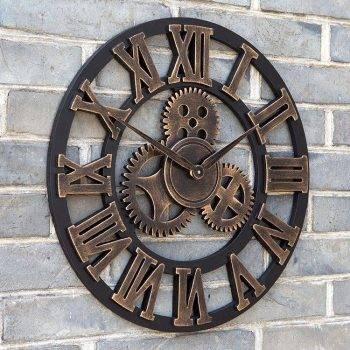 Oversized Decorative Wall Clock Handmade 3D 2