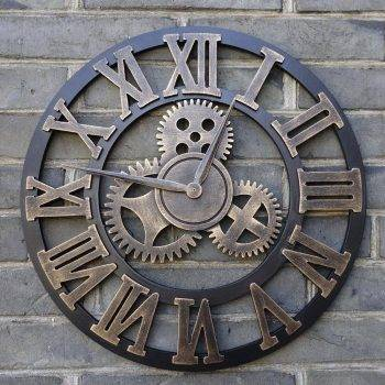 Oversized Decorative Wall Clock Handmade 3D 1