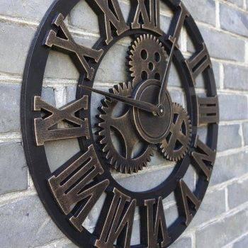 Oversized Decorative Wall Clock Handmade 3D 3