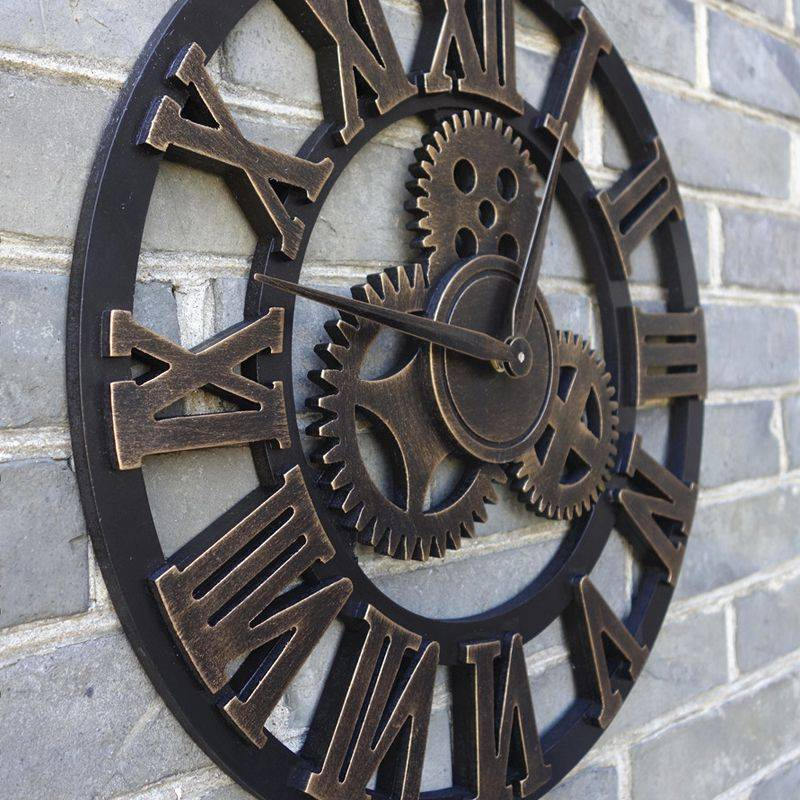 Oversized Decorative Wall Clock Handmade 3D