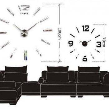 3D Oversized Decorative Wall Clock 6