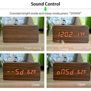 Bedroom Alarm Clock Display Digital Table Clock 9