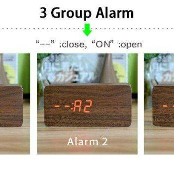 Bedroom Alarm Clock Display Digital Table Clock 11