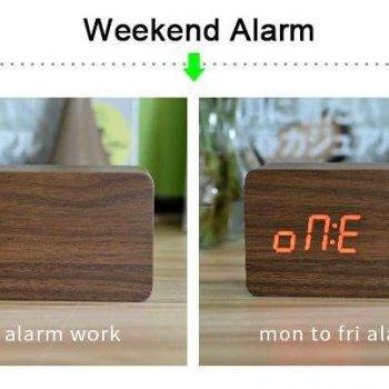 Bedroom Alarm Clock Display Digital Table Clock 12