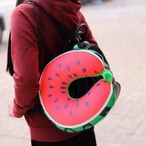 Travel Neck Pillow 3D Fruit Neck Protection Pillow Cushion