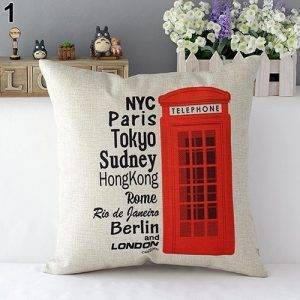 Cheap Throw Pillows London Flag Bus Cushion