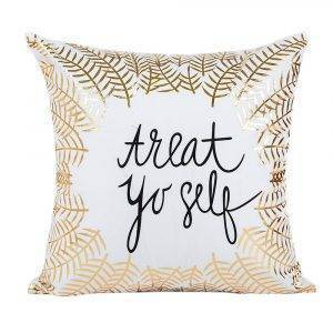 Decorative Bed Pillows Gold Foil Printing Cushion