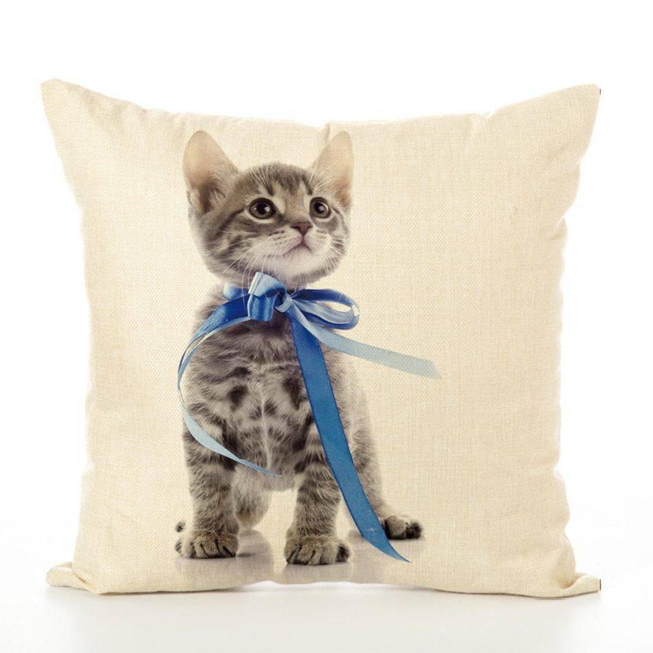 Sofa Pillows Cat Style Cushion