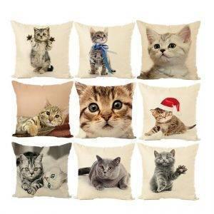 Sofa Pillows Cat Style Cushion