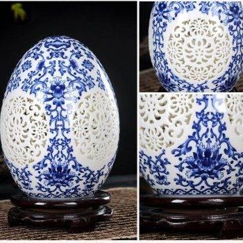 Table Vase Pierced Lucky Egg Vase 3