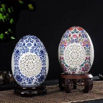 Table Vase Pierced Lucky Egg Vase 2
