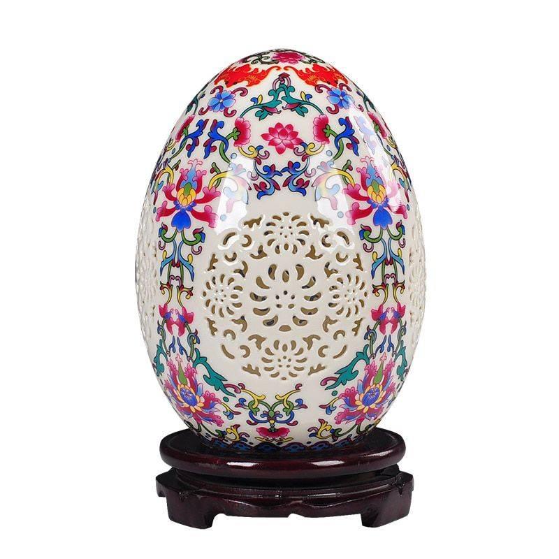 Table Vase Pierced Lucky Egg Vase
