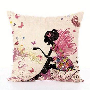 Kids Decorative pillows Fairy Printed Decorative Cushion 2