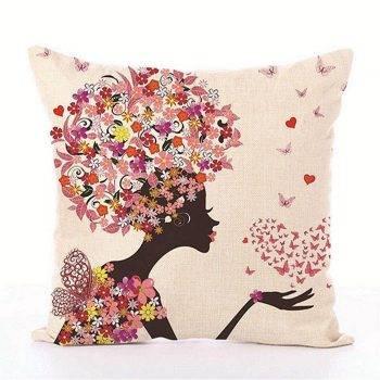 Kids Decorative pillows Fairy Printed Decorative Cushion 4