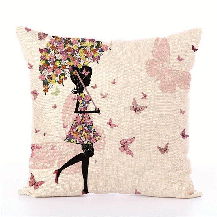 Kids Decorative pillows Fairy Printed Decorative Cushion
