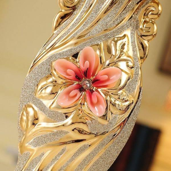 European Ceramic Vase Decorative Gold-plated Vase