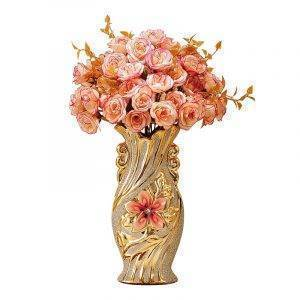 European Ceramic Vase Decorative Gold-plated Vase