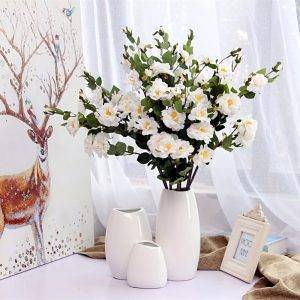 White Ceramic Vase Decoration Classic Vases