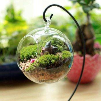 Clear Glass Vases Aquarium Hanging Home Decor Vase 2