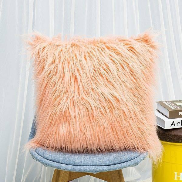 Soft Plush Pillow Faux Fur Cushion