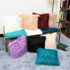 Soft Plush Pillow Faux Fur Cushion