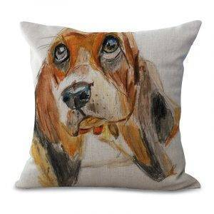Basset Hound Decoration Pillowcase Home Sofa Cushion Cover