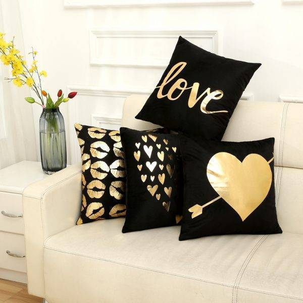 Letter Love Animal Pillowcase Sofa Seat Cushion Cover