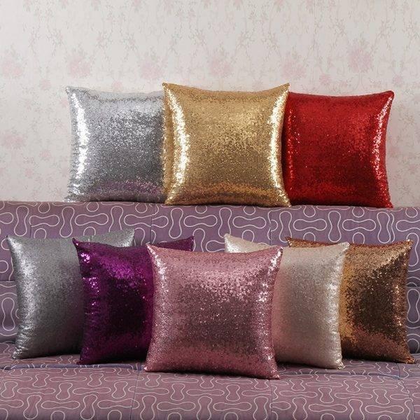 Sofa Decorative Pillowcase Glitter Cushion Cover
