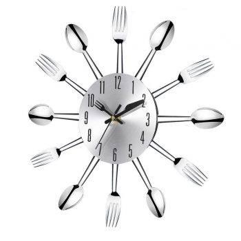 Modern Large Wall Clock Decor Spoon Fork Clock 2