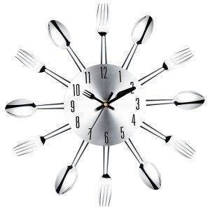 Modern Large Wall Clock Decor Spoon Fork Clock
