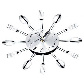 Modern Large Wall Clock Decor Spoon Fork Clock 3