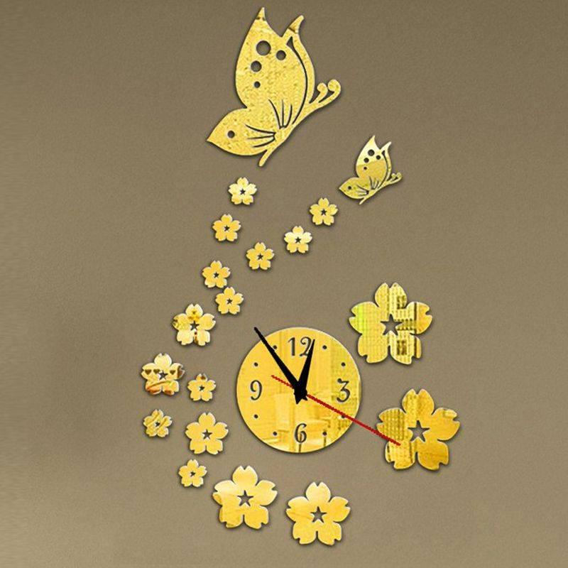 Acrylic Mirror Wall Clock Modern Decoration Clock