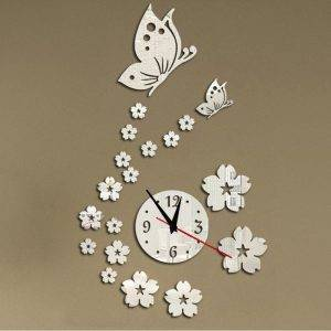 Acrylic Mirror Wall Clock Modern Decoration Clock
