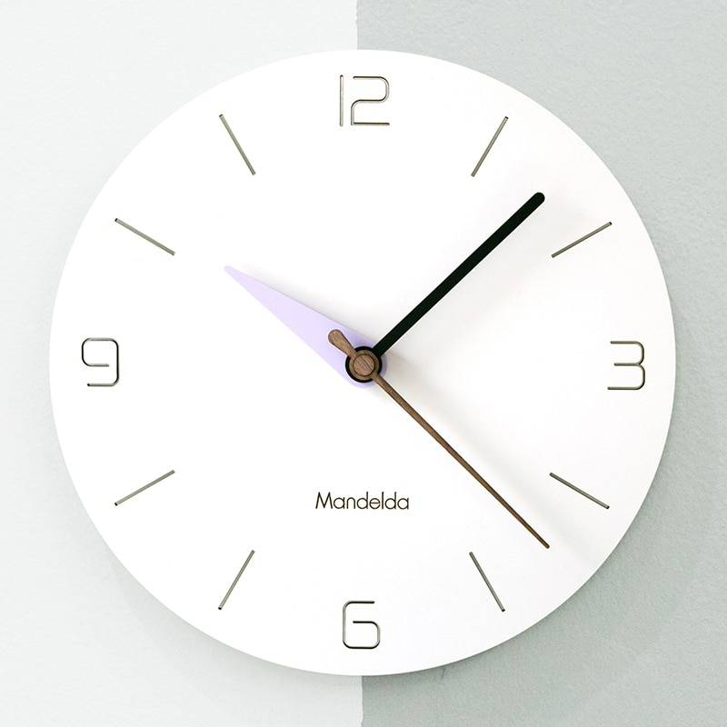 Circular Wooden Wall Clock Big Modern Clock