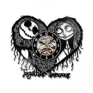 LED Nightmare Before Christmas Clock Home Decor Heart Wall Clock
