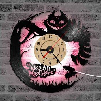 Modern Alice in Wonderland Led Clock - Living Room Wall Clock 4