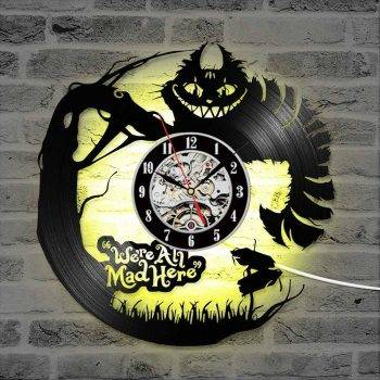 Modern Alice in Wonderland Led Clock - Living Room Wall Clock 1