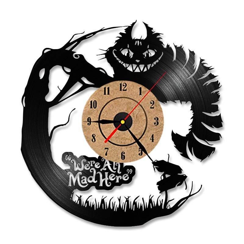 Modern Alice in Wonderland Led Clock – Living Room Wall Clock