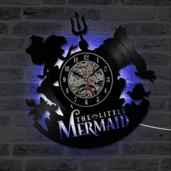 Mermaid Vintage Wall Clock Art Handmade LED Wall Clock 2