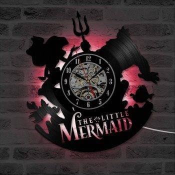 Mermaid Vintage Wall Clock Art Handmade LED Wall Clock 3