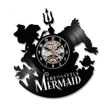 Mermaid Vintage Wall Clock Art Handmade LED Wall Clock 5