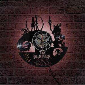 Nightmare Before Christmas Clock Best Black Wall Clock