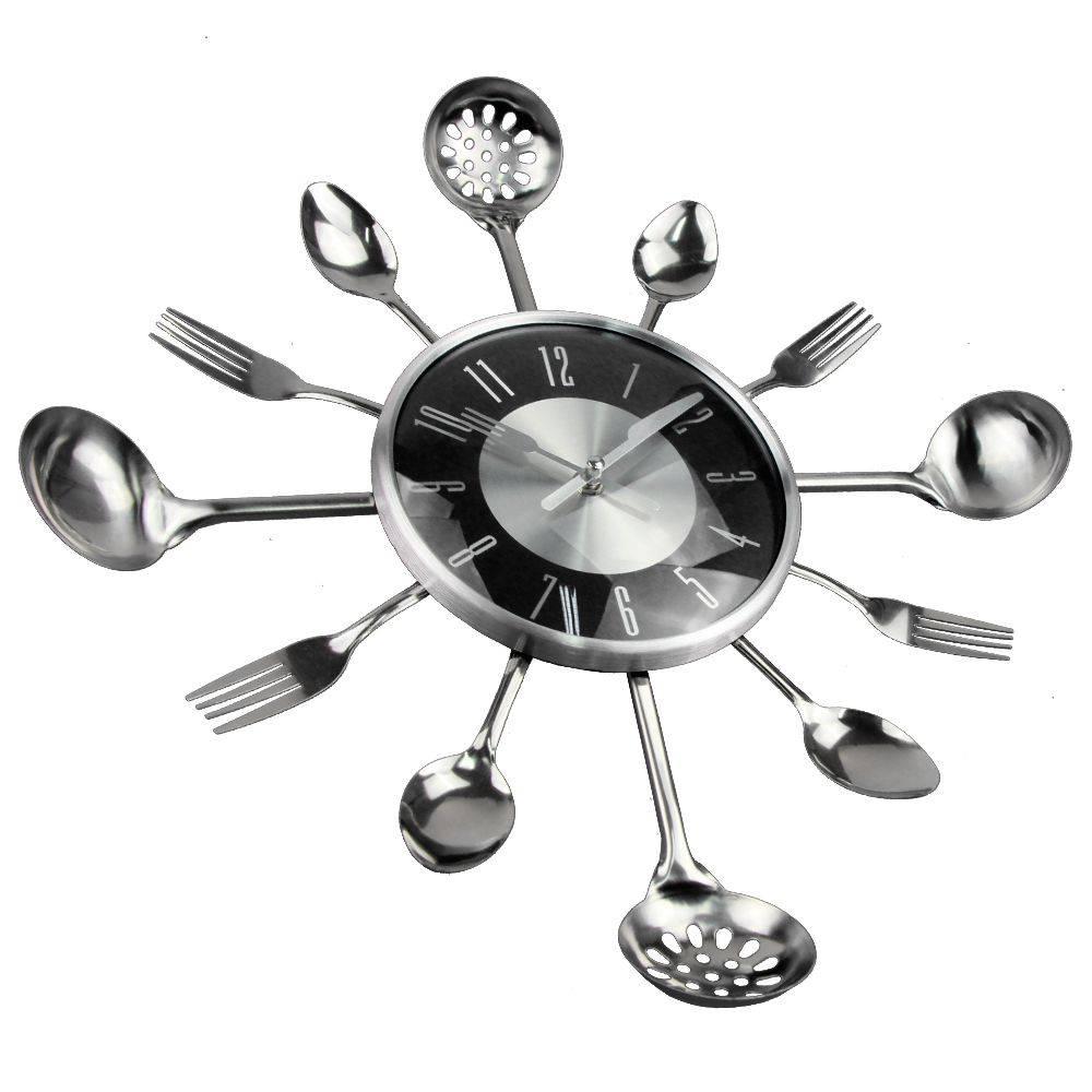 Large Kitchen Wall Clocks Creative Metal Clock